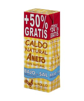 Low Salt Chicken Broth 1,5L (10 units carton)